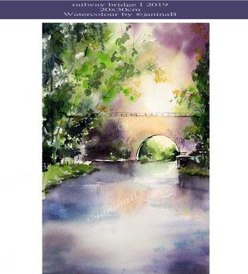 railway bridge I 2019 (O6) / 20x30cm Watercolour by ©janinaB