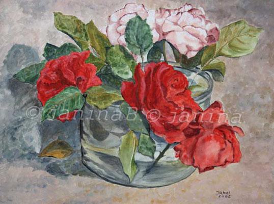Rosen (15) / Watercolour 30x40cm  © janinaB.