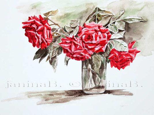 Rosen-I-2006 (O1) / Watercolour 17x24cm  © janinaB.