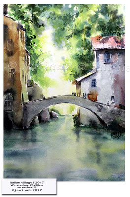 Italian village I 2017 / Watercolour 20x30cm on Arches CP © janinaB. 2017