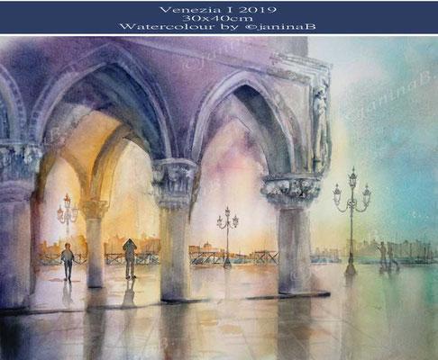 Venezia I 2019 (3) / 30x40cm Watercolour by ©janinaB
