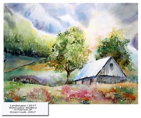 Landscape I 2017 / Watercolour 30x40cm on Fabriano CP © janinaB. 2017