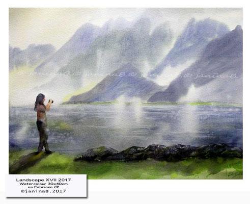 Landscape XVII 2017 / Watercolour 30x40cm on Fabriano CP © janinaB. 2017