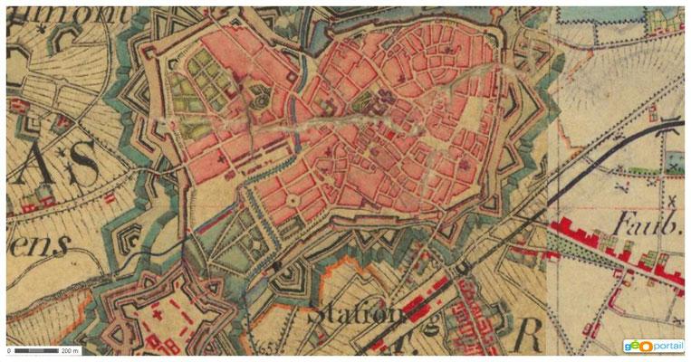 Carte état major 19è - Arras