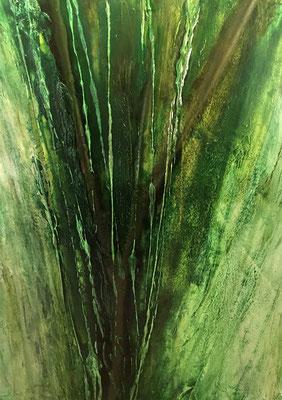 Chant de la Terre n°179  Souffle énergétique / Peinture sur toile / Format : 90x116cm / Latitude : 47°25 / Longitude : 2°03 / Date : 2019  Salbris