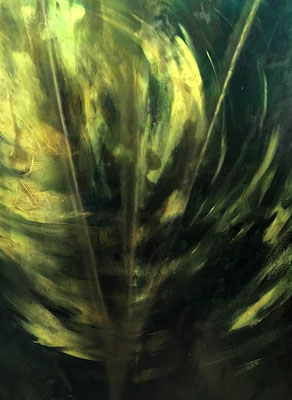 Chant de la Terre n°167  Souffle énergétique / Peinture sur toile / Format : 73x92cm / Latitude : 47°25 / Longitude : 2°03 / Date : 2019  Salbris