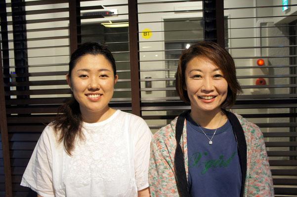 田村恵さん(左)と高橋愛さん