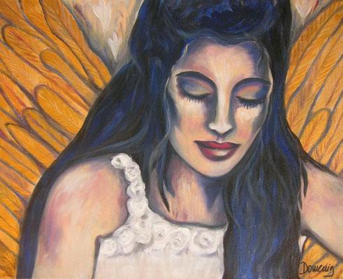 Guardian Angel. 30x40x2cm. Acryl auf Leinwand.
