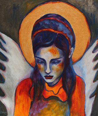 Angelgirl. 70x50x2cm. Acryl auf Leinwand.