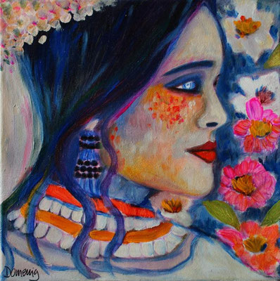 Salma married. 30x30cm. Acryl auf Leinwand.