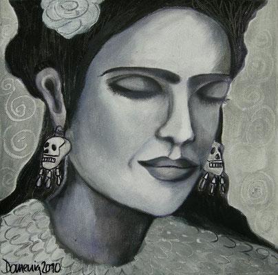 Frida. 30x30cm. Acryl auf Leinwand.