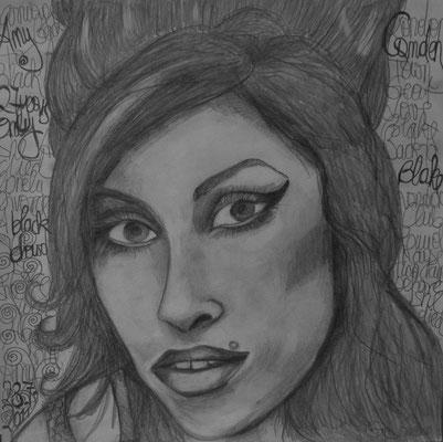 Amy. 30x30cm. Bleistift auf Papier.