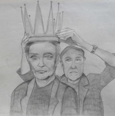 Give me the crown. 30x30cm. Bleistift auf Papier.