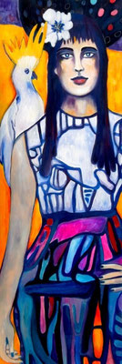 On the Catwalk. 150x50x2cm. Acryl auf Leinwand.