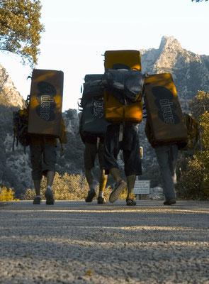 """escalade au caroux-hérault- en route pour une session """"Bloc"""""""