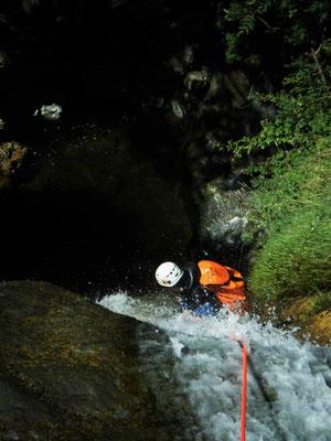 canyoning découverte sportif- languedoc- canyon d'Albès