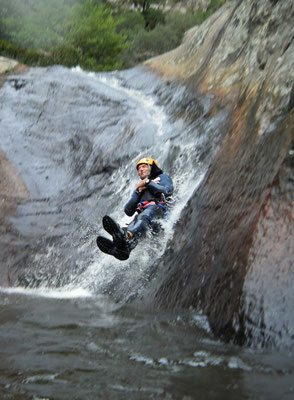 canyoning languedoc- canyon du rec grand- caroux