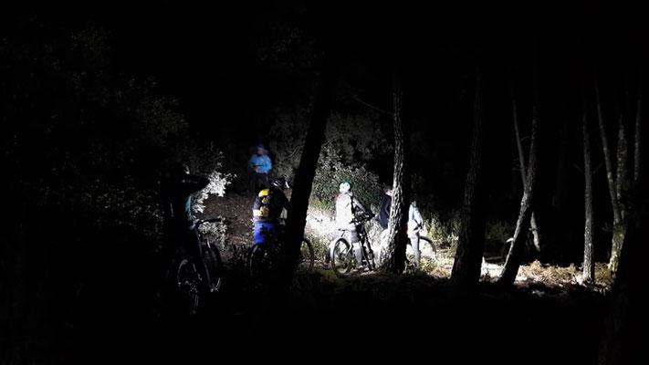 Vtt enduro - session nocturne en haut Languedoc