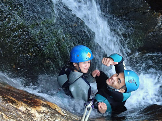 canyoning au Caroux- le torrent d'Arles