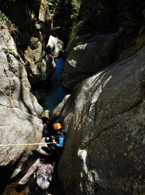 Canyoning du sailhens -Hérault -Haut Languedoc -montagnes du Caroux