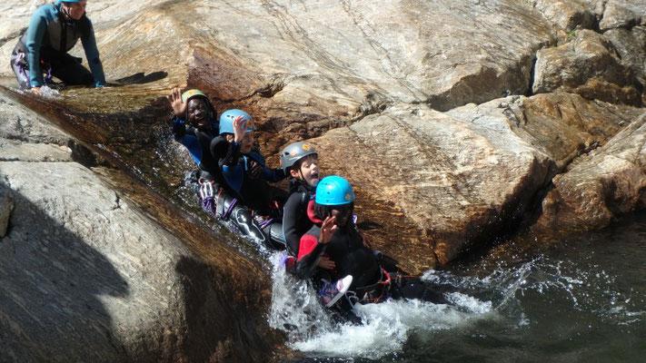 canyon du Rec Grand- un des nombreux toboggan