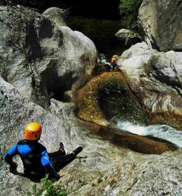 journée Canyoning dans l'Hérault- dans le bas du Rec Grand