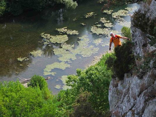 via ferrata au nord de béziers- haut Languedoc
