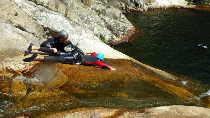 canyon du Rec Grand- en core un toboggan joueur