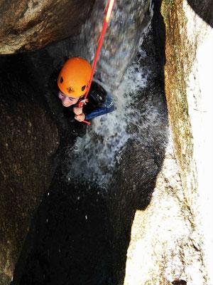 canyoning dans le Caroux- canyon du vialais