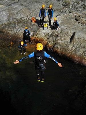 Canyoning dans le Rec Grand - massif du Caroux