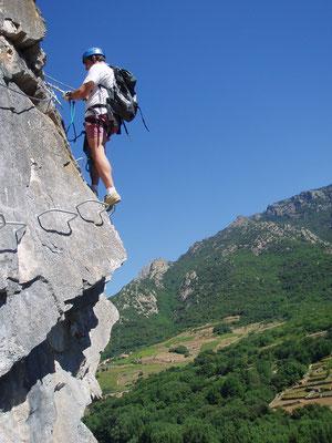 via ferrata acroroc-haut languedoc- nord de Béziers