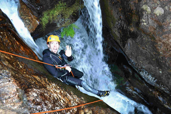 initiation canyoning- torrent d'Arles -caroux