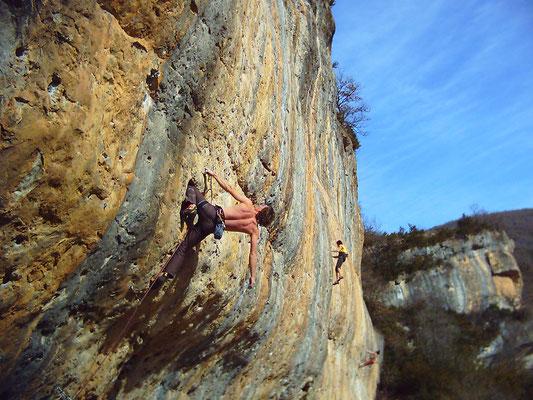 grimpe a Cantobre (Aveyron)