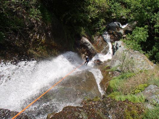 canyon d'Albès- premier rappel