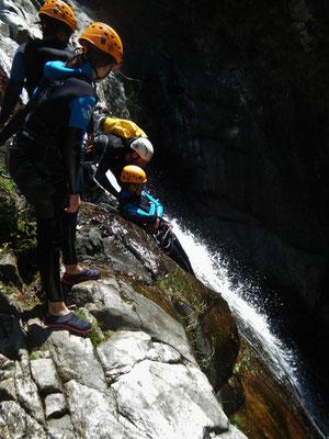 canyoning hérault- le rec grand- massif du caroux