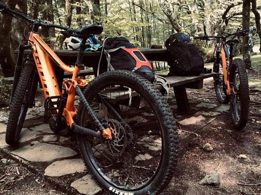 sortie VTT / E-bikes dans l'hérault -haut Languedoc