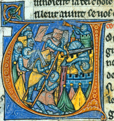 Histoire d'Outremer Guillaume de Tyr - Yates Thompson 12 - f.23v -France - 1232-1261