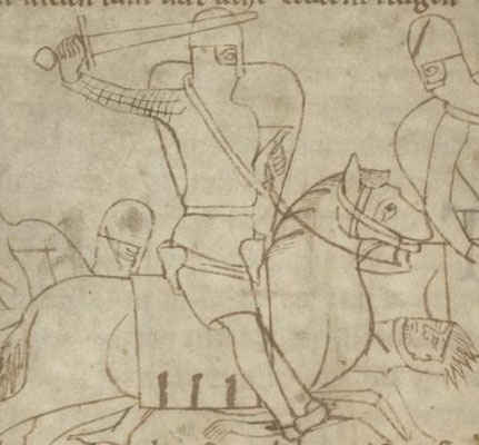 1180-1200 ; UBH ; Cod. Pal. germ. 112 Rolandslied of Konrad Pfaffe f74v