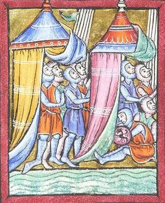 Psautier de Guiluys de Boisleux - Morgan M.730 - f.127v - Angleterre - 1246-1250
