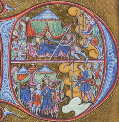 Psautier de Guiluys de Boisleux - Morgan M.730 - f.066 - Angleterre - 1246-1250