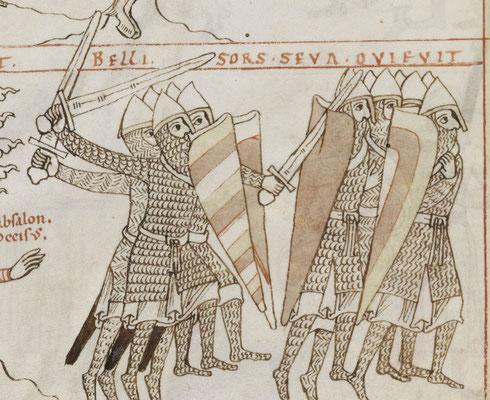 1180 ; Bamber Dombibliothek ; MS Bibl.5 Psalmenkommentar mit Bilderzyklus zum Leben Davids f004v