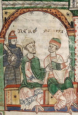 1170-1180 ; British Library ; Harley 2801 f21 ; Pierre et Paul