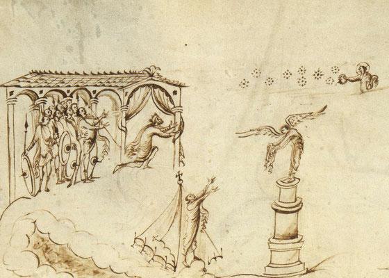 Psautier d'Utrecht -MS Bibl Rhenotraiectinae I Nr 32 - f.34v - Pays Bas - 820-835 - Psaume 60-61