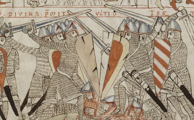 1180 ; Bamber Dombibliothek ; MS Bibl.5 Psalmenkommentar mit Bilderzyklus zum Leben Davids f003r ;  Mort du roi Saül
