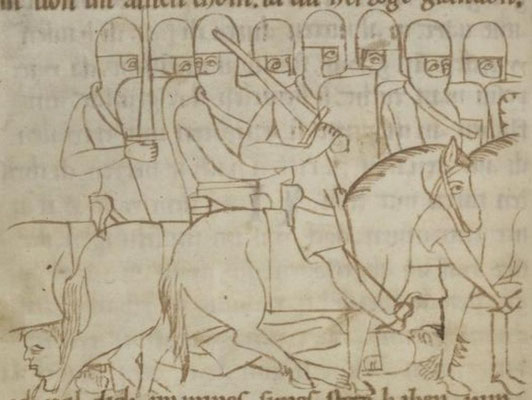 1180-1200 ; UBH ; Cod. Pal. germ. 112 Rolandslied of Konrad Pfaffe f71v