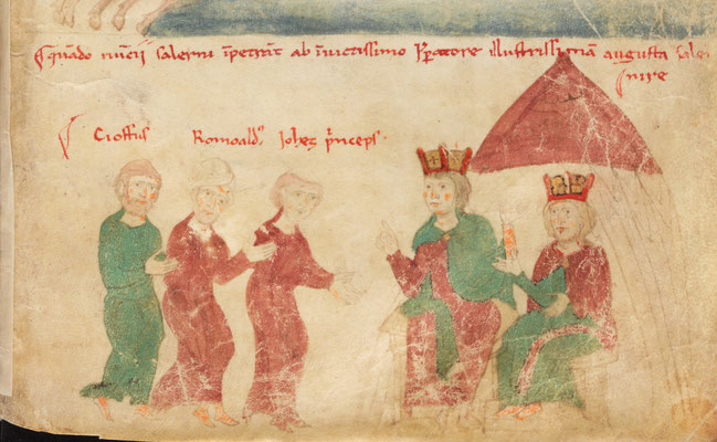Liber ad Honorem Augusti - BBB Cod. 120.II - f.110r - Italie - 1195-1197