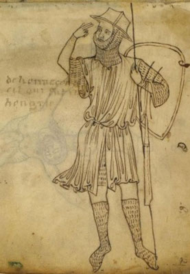 1230-1250 ? ; BNF ; Fr 19093 Carnet de Villard de Honnecourt f02