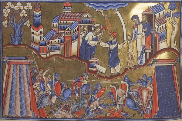 Psalterium Cantuariense [Psautier de Canterbury] - BNF Lat.8846 - f.98 - Angleterre -  1176-1200