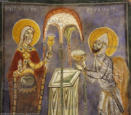 1235 ; Crypte de St magnus ; Agnani ; Abraham et Melchizedeck