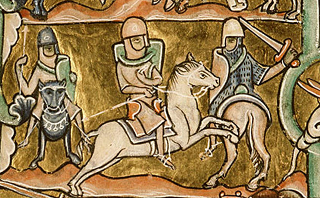 1185-1195 ; Bibl Sainte Geneviève ; MS 010 f003v ; Guerres de David